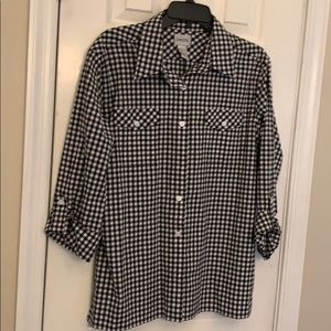 Chico's checkered top size 2(12)